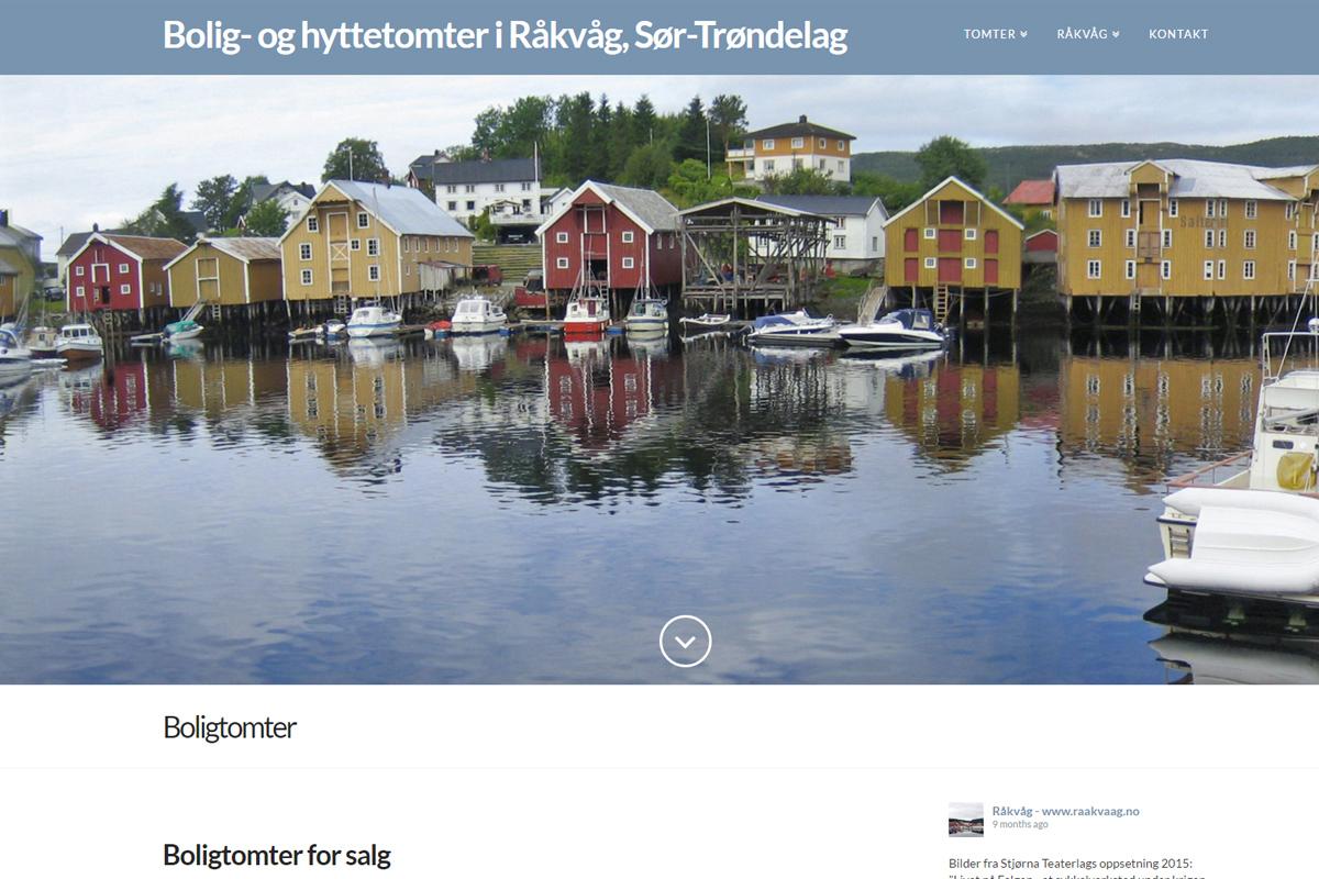 Bolig- og hyttetomter i Råkvåg